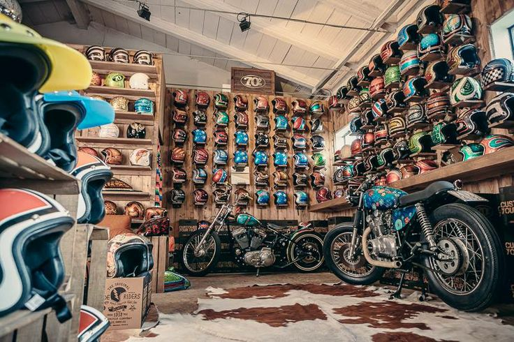 Cool Shop 70 S Helmets Pin By Corb Motorcycles Garage