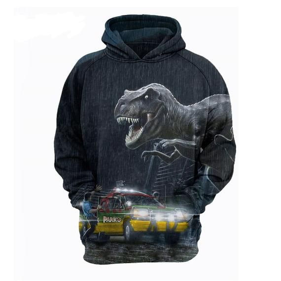 2018 Boys Jurassic Park Dinosaur Hoodie Jacket Sweatshirt Sweater Costume O52