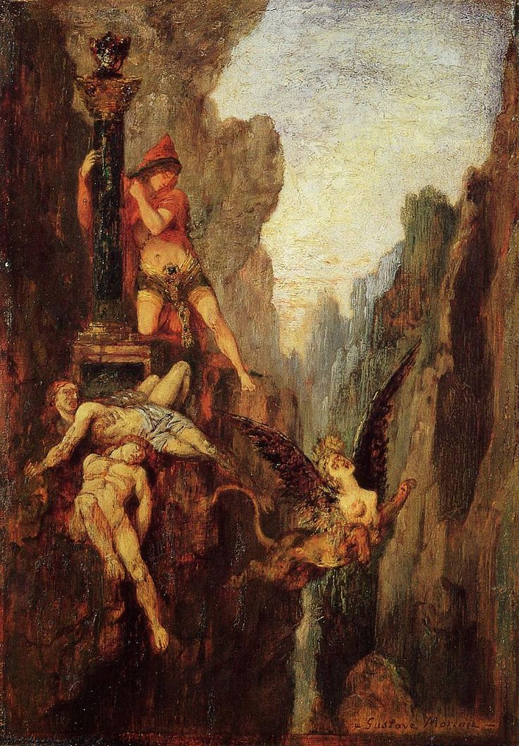 "didoofcarthage: "" The Sphinx Undone by Gustave Moreau c. 1878 oil on board private collection """