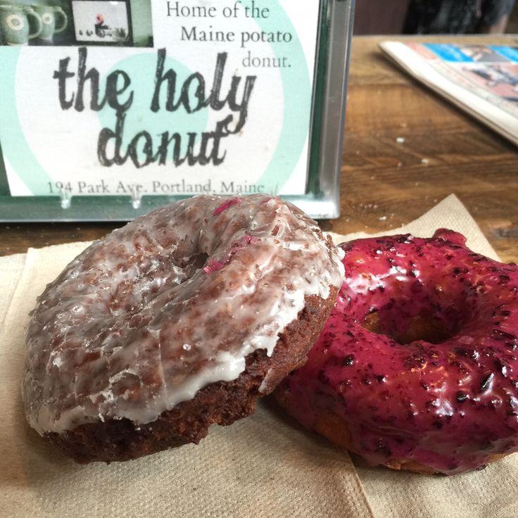 Dark Chocolate Sea Salt and Blueberry Donuts at The Holy Donut, Portland, Maine  Photo credit: Nicole Wakelin / Nerdy TravelingMom
