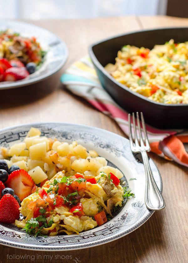Simple Comfort Food Tex-Mex Migas #recipe