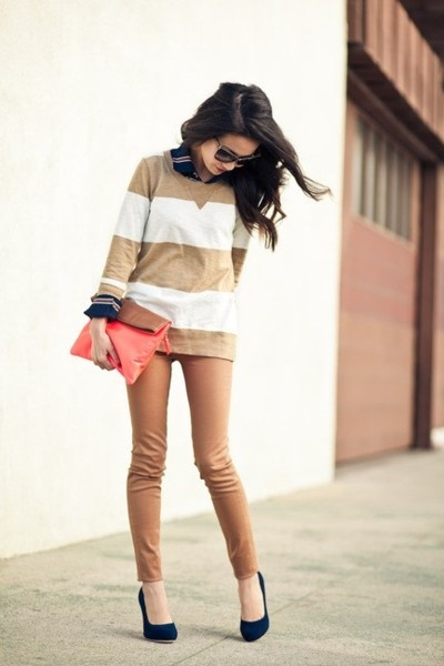 For the ladies.Killers Heels, Fashion, Wendy'S Lookbook, Style, Outfit, Weekend Stripes, Comfy Casual, Navy Blue Shoes, The Navy