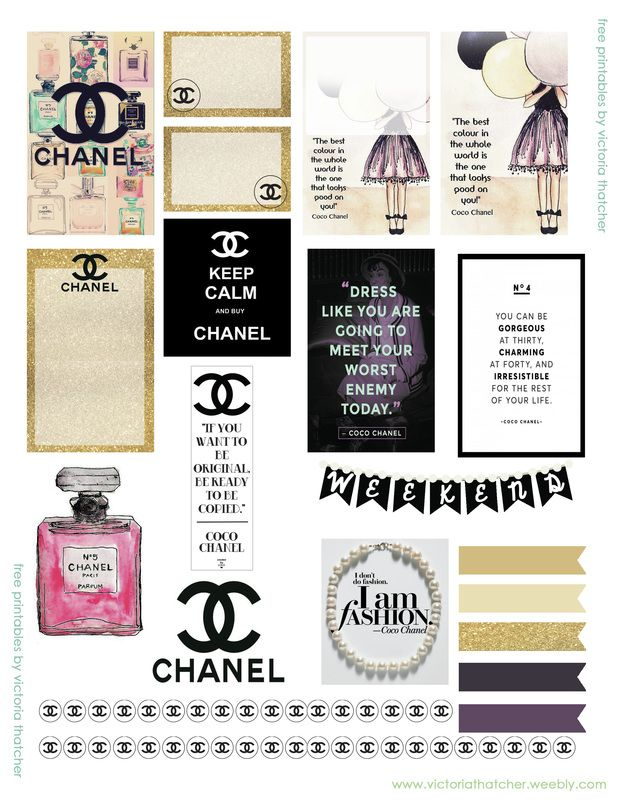 Free Printable Coco Chanel Planner Stickers from Victoria ...