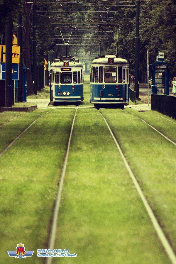 Trams, Cracow, Poland