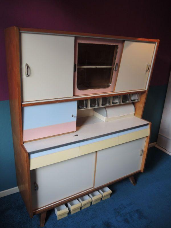 mid century k chenschrank buffet anrichte 50er 60er jahre rockabilly vintage rar rost. Black Bedroom Furniture Sets. Home Design Ideas