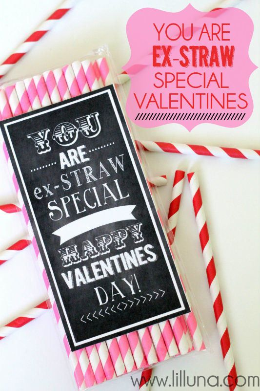 You are Ex-STRAW Special Valentines.This is cute, but I think sour straw