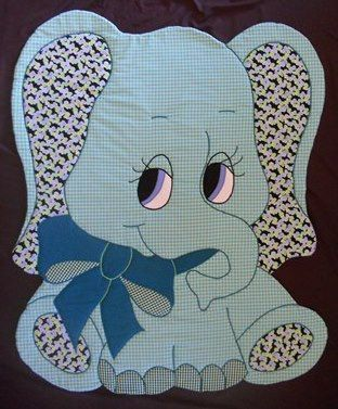 Elephant    Vintage Quilt Pattern for:  Baby by KiddieKomfies