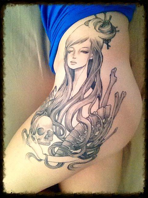 Audrey Kawasaki Tattoo | Feminine Hand Tattoos | Pinterest