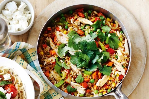 Stuck for dinner ideas? Clear out your fridge and create fried rice for a hearty family meal.