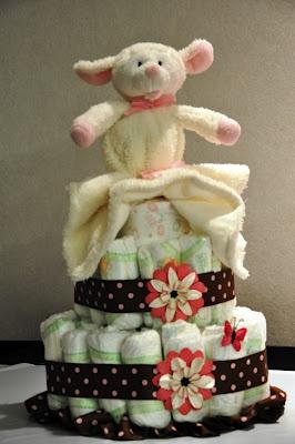 My baby diaper cake