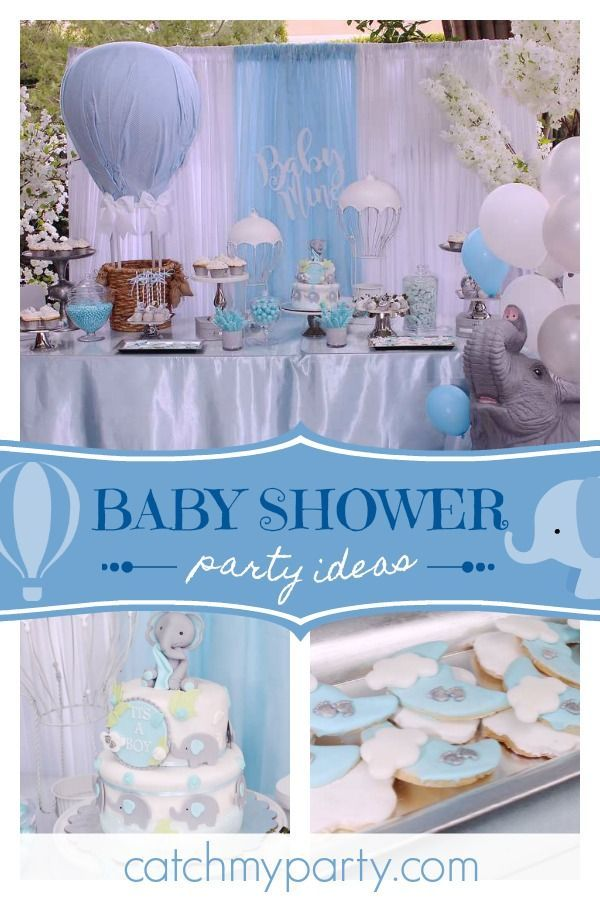 Hot Air Balloon Baby Shower Elephants Hot Air Balloons Hot