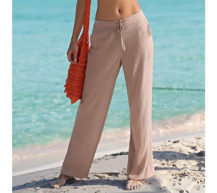 Kreponové kalhoty | blancheporte.cz #blancheporte #blancheporteCZ #blancheporte_cz #newcollection #jaro #leto #summer #spring