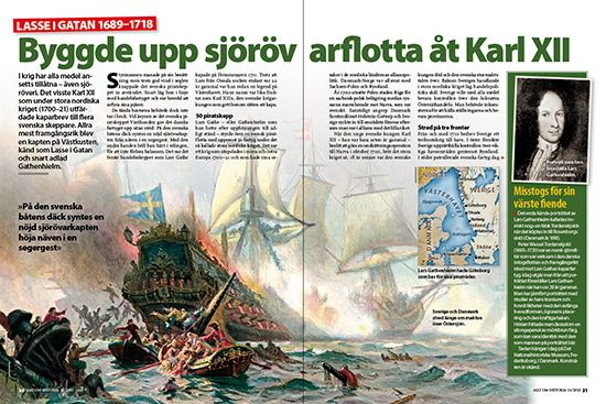 """Lasse i gatan"" byggde upp en sjörövare flotta åt svenske kungen Karl XII // ""Lasse in the street"" built a pirate fleet to the Swedish King Charles XII Translate from Swedish Lasse_i_gatan"
