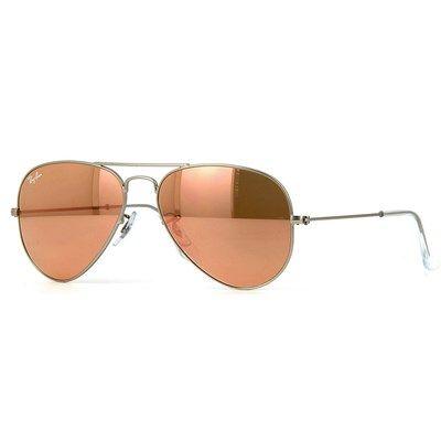 Óculos de Sol Ray Ban Aviador com Lente Espelhada Rosé - RB3025019Z2