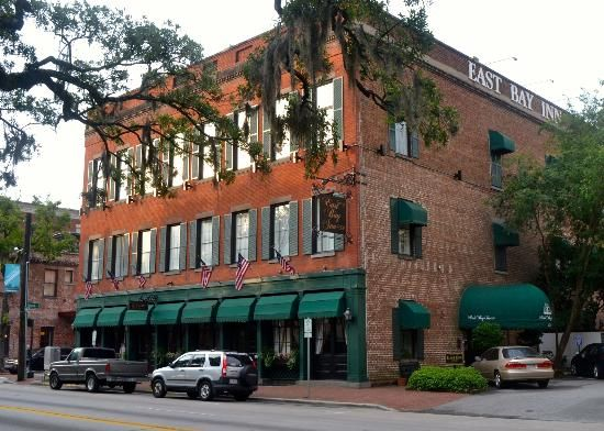 Legend has it that the old ghost of Charlie, a former worker at East Bay Inn, fell to his death from a third story room. #hauntedhotel www.eastbayinn.com