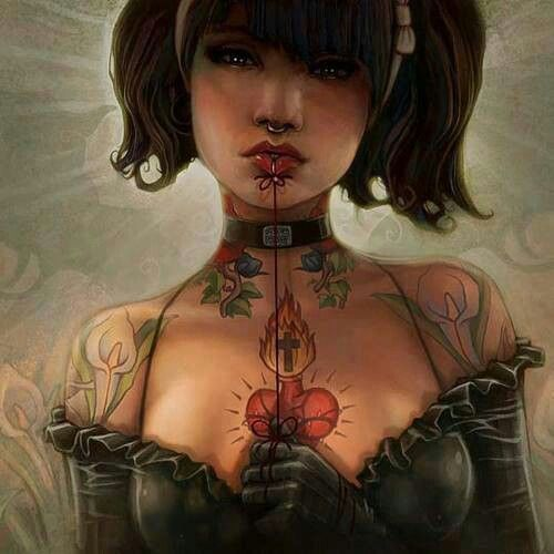 Girl and tattoo
