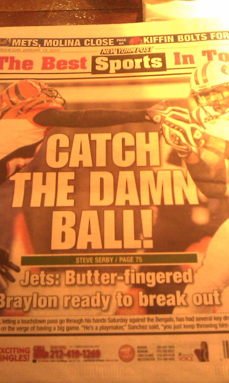Not football, but I wish footbll headline writers would be as direct as this.