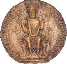 Louis VI dit le Gros  ou le Batailleur - Roi des Francs -  1er déc. 1081 - 1er Août 1137 - couronné le 3 Août 1108 en la cathédrale d'Orléans - fils de Philippe 1er