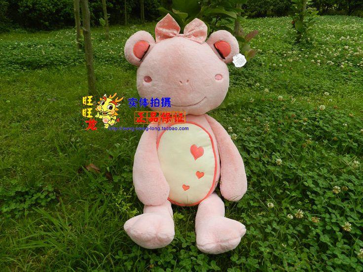 Big прекрасная лягушка-игрушка мягкий свет розовый девушка лягушка кукла свадебный подарок около 75 см