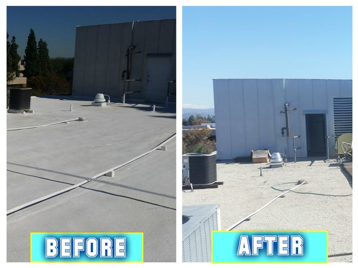 Have a look at the before and after images of one of our #FoamRoofing projects!
