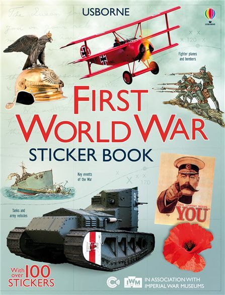 Travel back in time with this fascinating sticker book, jam-packed with information, maps and photographs taken during the First World War. #history #sticker #book #activity #learn #teach #war #first #world #ww1 #1914 #plane #tank #soldier