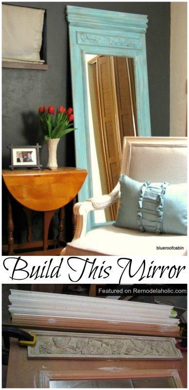 DIY Trumeau Floor Mirror Tutorial #diy