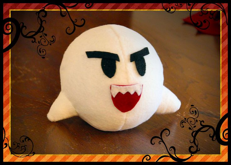 Make a plush of Boo from Mario