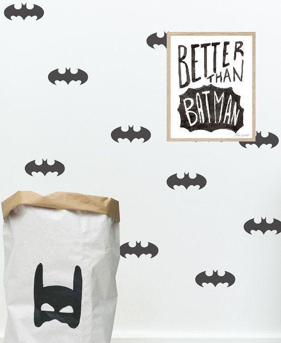 Batman-Aufkleber, Batman-Maske, Batman-Logo, Batman Wand Aufkleber, Batman Wandkunst, Superhero Wandkunst, #038  Größe:…