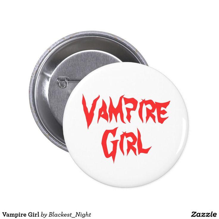 Vampire Girl Pinback Button