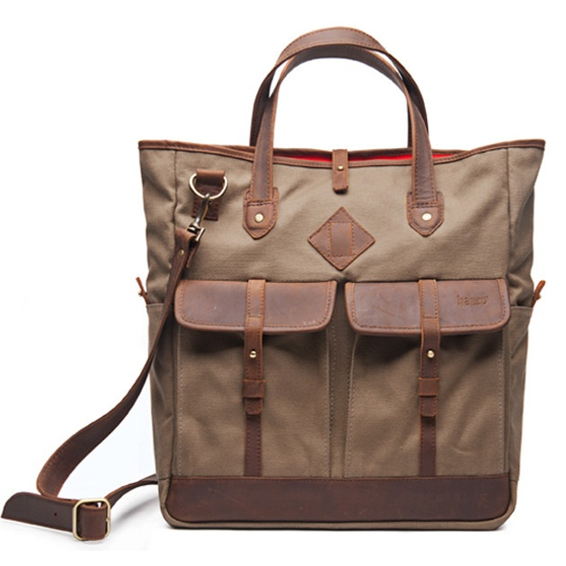 Garcia Tote by hasso: Made by artisans in Colombia of of 455 g water resistant cotton canvas and thick vegetable tanned leather. Comes with a fleece lined zippered lap top compartment #Tote #hasso: Garcia Totes, Schools Bags, Travel Bags, Diapers Bags, Laptops Bags, Totes Bags, Camera Bags, Work Bags, Cotton Canvas