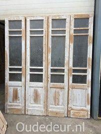 nr. set451 4-slag glas deuren , veel beschikbaar