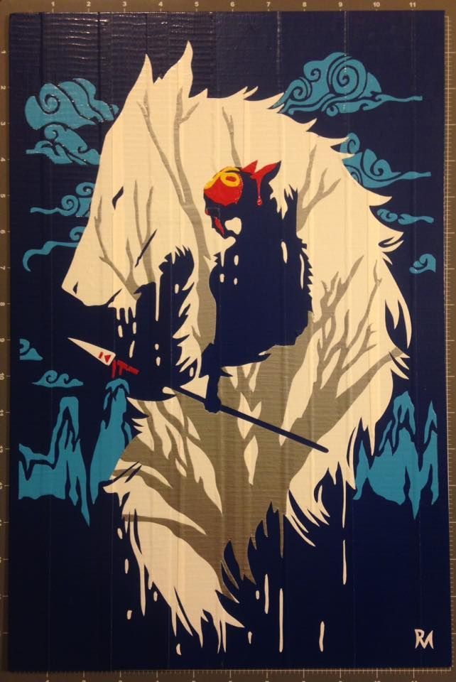 Princess Mononoke Duct Tape Art by DuctTapeDesigns.deviantart.com on @DeviantArt