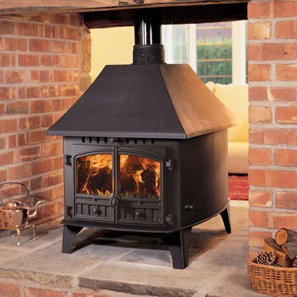 Hunter Herald 14 Double Sided Wood Burning Stove - Double Depth