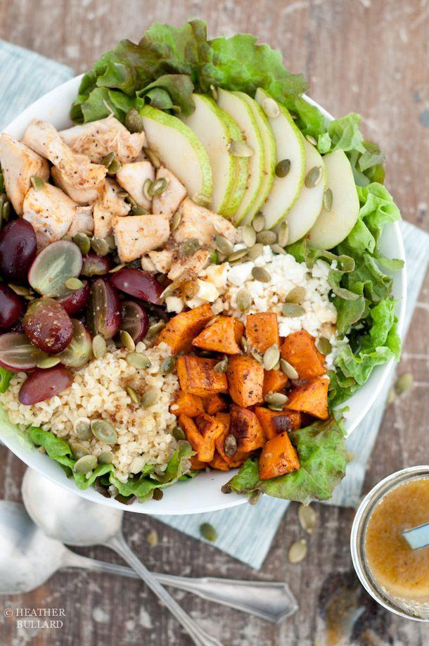 Monday Meals   Harvest Salad with Citrus Champagne Vinaigrette. Looks delicious!
