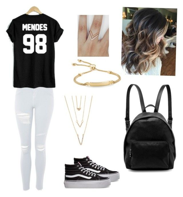 """""""Untitled #11"""" by izzyvb on Polyvore featuring Topshop, Vans, WithChic, SHAN, Monica Vinader and STELLA McCARTNEY"""