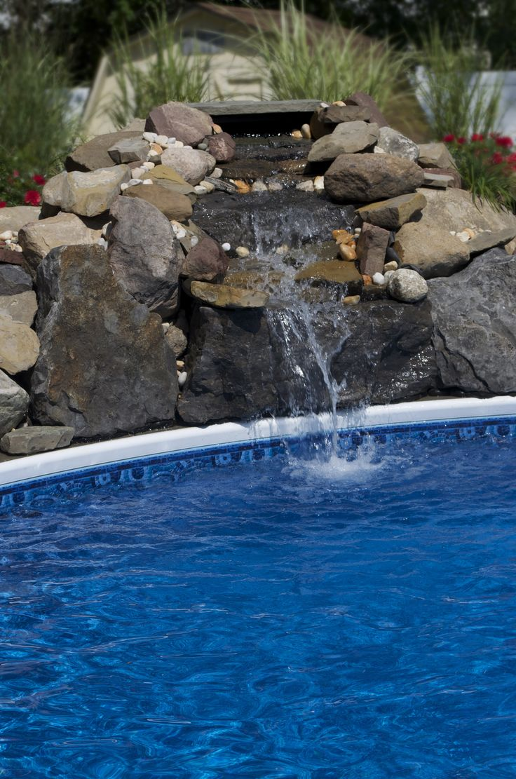 Rock waterfall detail. In-Ground Pools Galleries Pettis Pools & Patio  Hilton, NY  Rock WaterfallSwimming PondsWater ...