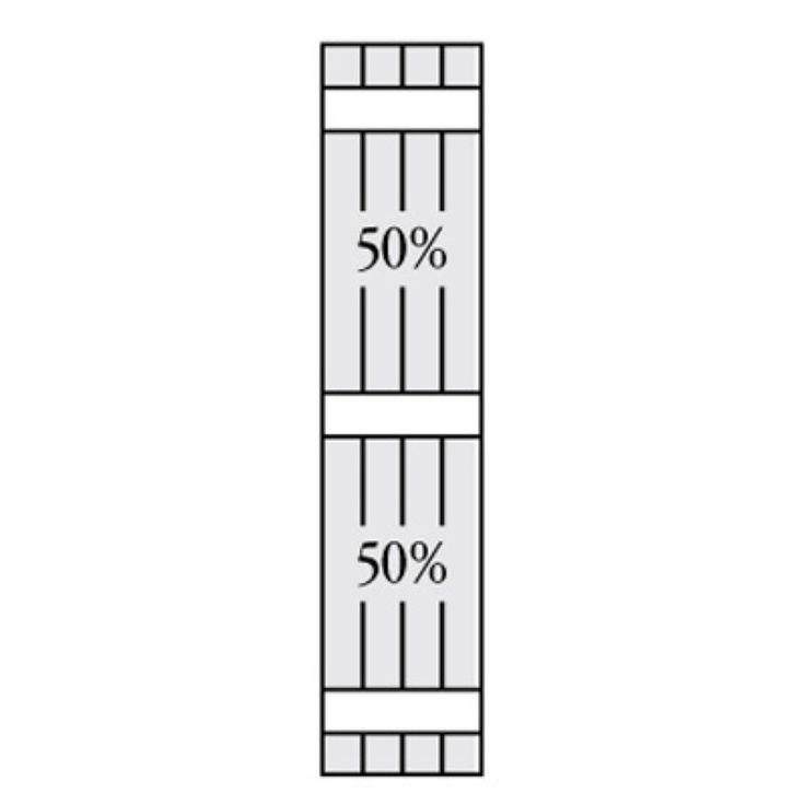 Perfect Shutters 6.875W in. Closed Board-N-Batten Vinyl Shutters Chocolate Chip - 1360735206C002