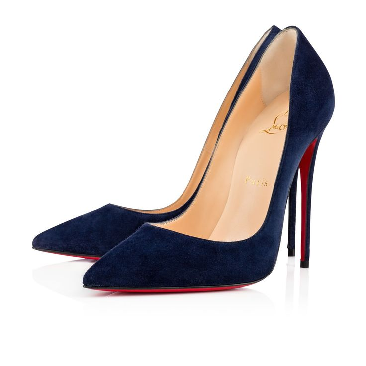 """""""So Kate's"""" pointed toe and superfine stiletto heel provide an eye-catching allure. Its dramatic pitch gives you a supremely sexy 120mm lift. In elegant night suede, """"So Kate"""" is an updated neutral."""