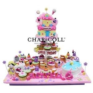 Pink Spa Acrylics Tier Birthday Cake