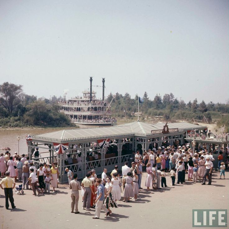 1428 best wonderful world of disney images on pinterest disney disneylandguru disneyland mark twain dock on opening day from the life magazine archive color corrected by united style freerunsca