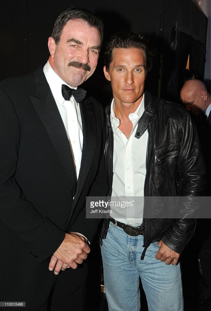 Actors Tom Selleck (L) and Matthew McConaughey attend the 7th Annual TV Land Awards held at Gibson Amphitheatre on April 19, 2009 in Universal City, California.