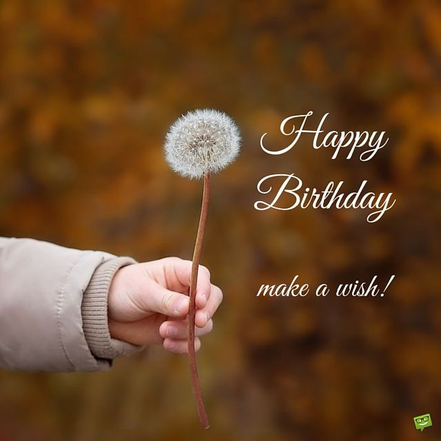 Happy Birthday! make a wish!