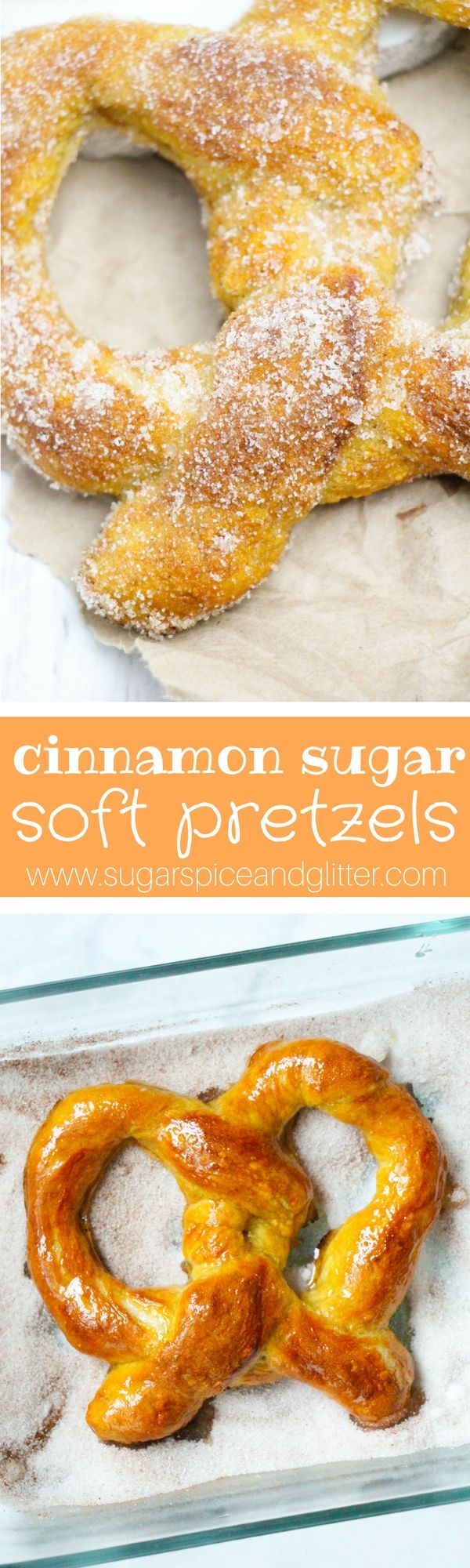Every time I have to go to the mall, I struggle with temptation – if I go in one side of the mall, I am greeted with the beckoning smell of Cinnabon Cinnamon Rolls – and if I go in the other side – Delicious Cinnamon Sugar Soft Pretzels! Now that I have perfect recipes …
