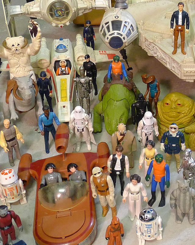 Star Wars vintage toys - these were my older brother's - and I couldn't touch them!!