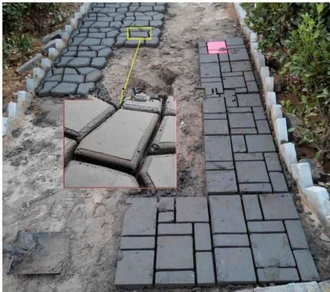 Garden paving plastic mold for garden concrete molds for for Cleaning concrete paths