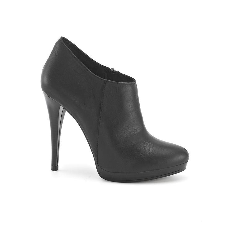 Low boots cuir talon haut