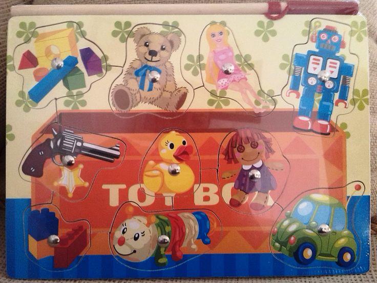 PUZLE ENCAJE MAGNÉTICO CAJA DE JUGUETES (9,70 €) http://www.babycaprichos.com/puzzle-magnetico-caja-de-juguetes.html