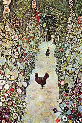 Garden Path with Chickens