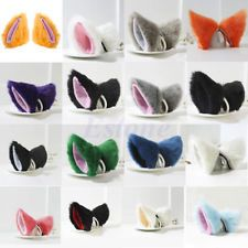 Nette Cosplay Partei-Katze Fox Lange Pelz Ohren Anime Neko Kostüm Haarspange HOT