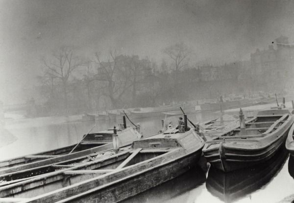 """Caption: """"Boats at Little Venice on the Paddington Arm of the Grand Junction Canal"""""""